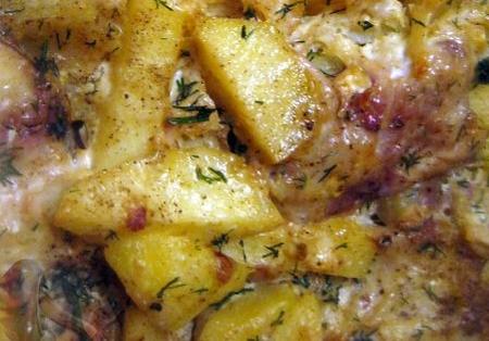 Скумбрия с картофелем